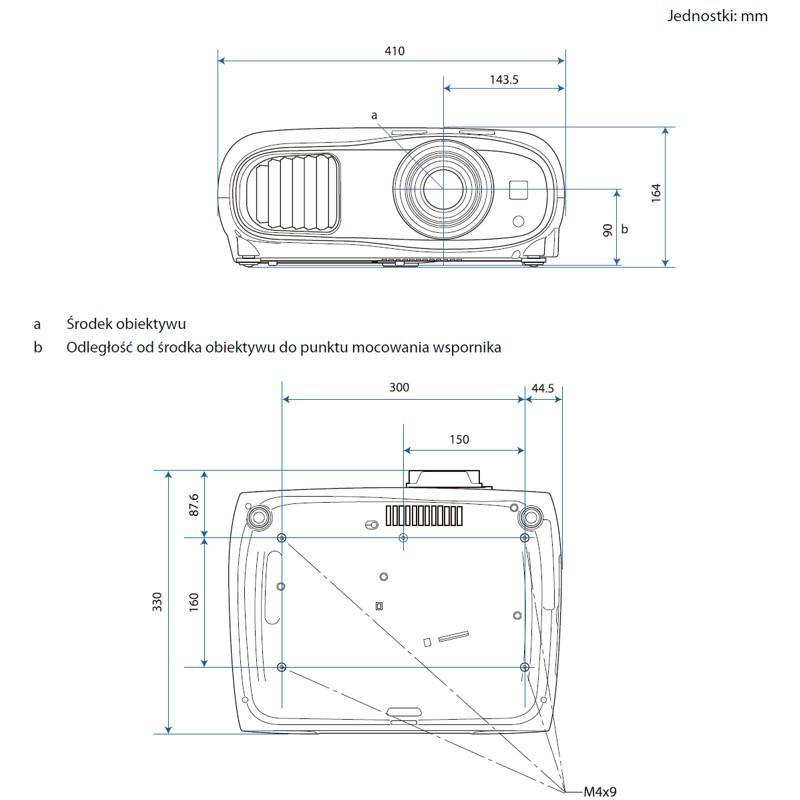 Epson EH-TW7100 - wymiary